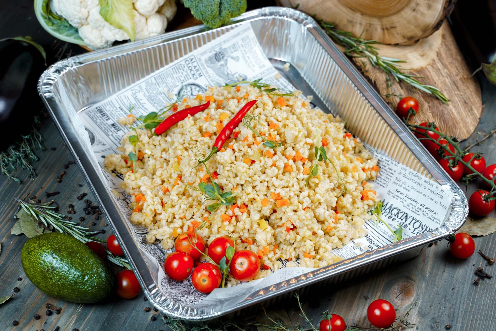 Булгур с овощами 1800 гр (12 порций по 150 гр)