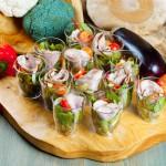 СЕТ №47 Микс-салат с бужениной и дижонским соусом 12 шт по 50 гр