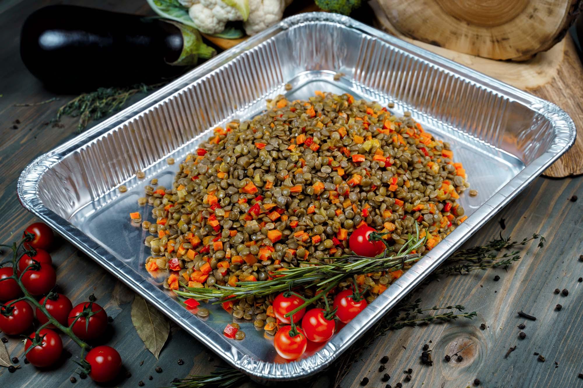 Чечевица с овощами 1800 гр (12 порций по 150 гр)
