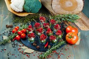 СЕТ №4 Брезаола с козьим сыром и малиной (вяленая говядина) 12 шт по 30 гр