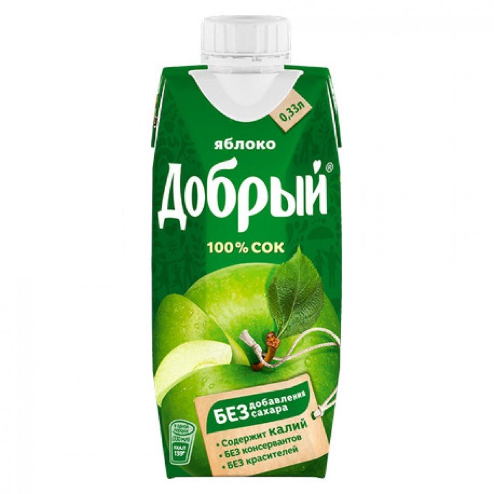 Сок ДОБРЫЙ Яблоко т_пак. – 0,33